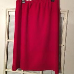 Medium/Large Red Pencil Skirt